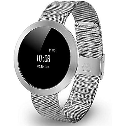 cinghia X9 mini sport di frequenza cardiaca intelligente della vigilanza del braccialetto Bluetooth impermeabile contapassi sonno di sostegno di rilevazione IOS / Acciaio Android