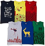 SOUTH SAILOR Boys Cotton Regular fit T-Shirt (Multicolor_2 to 16 Years) Pack of 6