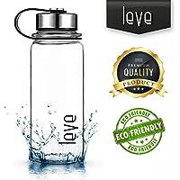 Botella de 1 litro Leve, de cristal de borosilicato para té y zumos, para