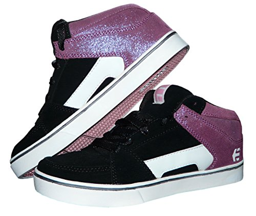 Etnies Sneaker Girls Skater Mid High Turnschuh Freizeitschuh (EU 38, Schwarz) (Skater-girl Schuhe)