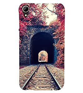 Takkloo railway track ( dark cave, trees around cave, U shaped cave, nice view) Printed Designer Back Case Cover for HTC Desire 828 Dual Sim