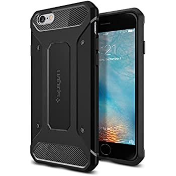 Coque iPhone 6s, Spigen Coque iPhone 6 / 6s [Rugged Capsule] retablissement [Noir] Armure Robuste Ultimate protection et design robuste avec Premium Housse Etui Coque pour iPhone 6s (2015) - Noir (SGP11597)