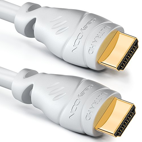 deleyCON 3m HDMI Kabel   HDMI 2.0 / 1.4a kompatibel   High Speed mit Ethernet (Neuster Standard)   ARC   3D   4K Ultra HD (1080p/2160p)