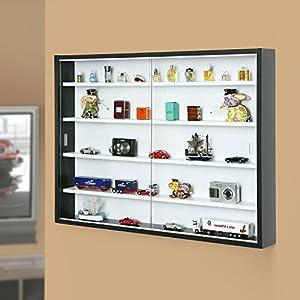 Inter Link Vetrina per Collezionismo e Miniature in Truciolare Laminato,60 x 80 x 9.5 cm, Marrone LEGO