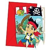 Jake und die Nimmerland Piraten - Einladungskarten