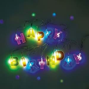 Happy Birthday String Lights: Amazon.co.uk: Kitchen & Home