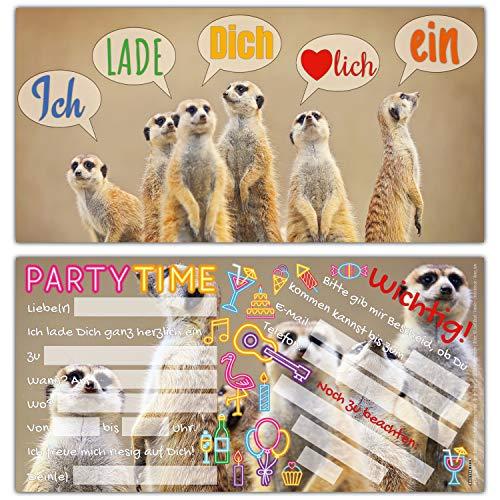 N Einladungskarten - edle & witzige Einladungen zum Kinder-Geburtstag oder Party für Mädchen Jungen & Erwachsene von BREITENWERK ()