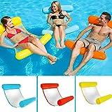 CampHiking® Swimming Pool Float Hängematte, aufblasbares Schwimmbecken Schwimmbad Liege Stuhl faltbar Kompakte Tragbare Matte für Erwachsene und Kinder mit kleinen Pumpe, rot