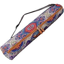 """Yoga bolsa """"Sunita"""" de #Fabricado en lona DoYourYoga (lona), complejo de alta calidad, para extra grande de Yoga y gimnasia hasta un tamaño de 186 x 63 x 0,6 cm, edel-diseños disponibles en diferentes. Blaues Muster"""
