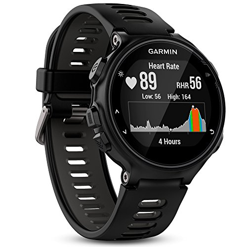 Garmin Forerunner 735XT Reloj Multisport, Unisex Adulto, Negro y Gris, M