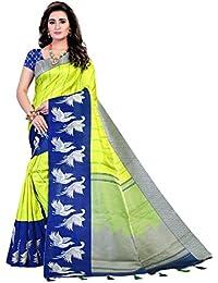 Bellbird Fab Women's Silk Saree With Blouse Piece (Bbf488_Parrot)
