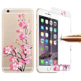 Best Glass Screen Protector For Iphone 6 Plus - KANEED Tempered Glass Film, Colorized Relief Plum Blossom Review