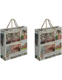 Paper Wings Paper Off-White Paper Shopper Bags (Pack Of 2)