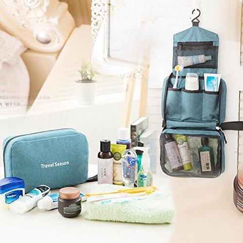 LvLoFit Wasserabweisend Kulturbeutel zum Aufhängen Reise Flugzeug Faltbar Kosmetiktasche Waschbeutel Gross Ultraleicht Herren Damen Blau