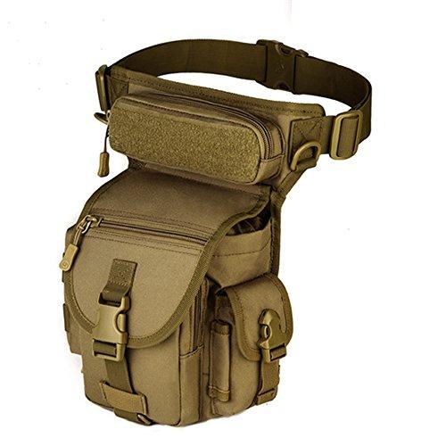 Freedom-vp Dammen Herren Military Tactical Hüfttasche Beintasche Umhängetasche für Reisen Radfahren Bergsteigen Sports Outdoor Tasche (Braun)