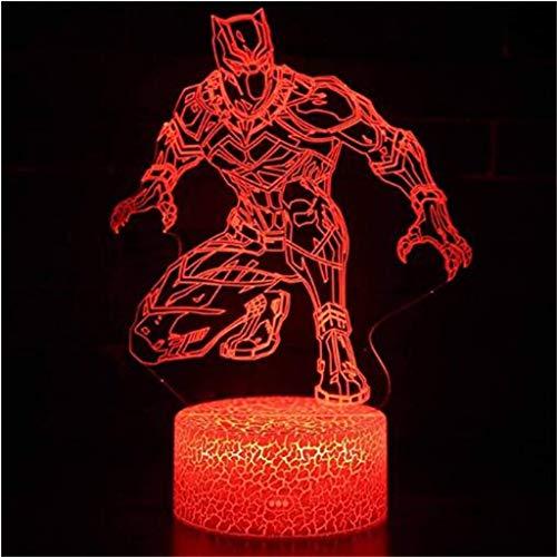 YLSE-night light 3D-Nachtlicht/Led-Energiesparlampe, 7 Farben, Nachttischbeleuchtung, Kinderlampe, Rissfuß, USB-Kabel, Schlafzimmer, Bar, Geburtstagsgeschenk