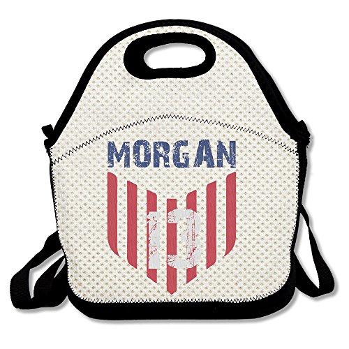 Copdsa usa soccer player alex morgan isolato personalizzato tote lunch food bag nero