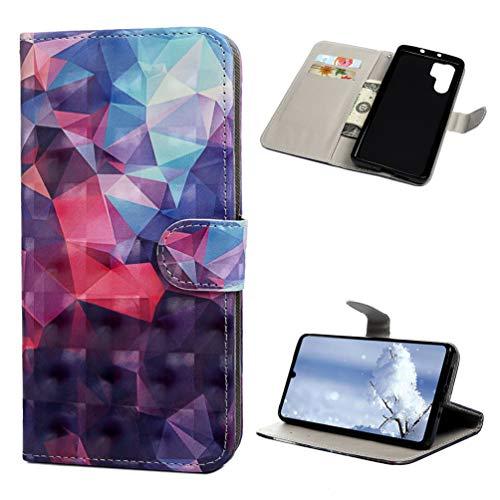 Preisvergleich Produktbild Handyhülle für Huawei P30 Pro Hülle 3D PU Leder Tasche Flipcase Schutzhülle Ständer Klapphülle Silikon Handytasche Bumper Magnetverschluss Brieftasche Huawei P30 Pro