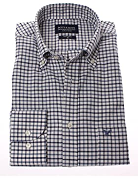 178678 - Bots & Bots - Camisa para Hombre - Algodón Sarga - Button Down - Normal Fit