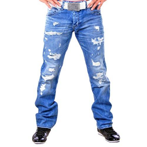 Redbridge Herren Straight Leg Jeans RB-157 Bright Blue