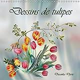 Dessins de tulipes : Dessins aux crayons de couleur