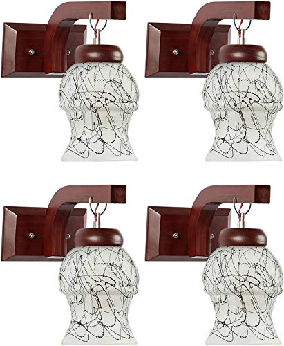 R.S Traders Fancy Glass Light pendent Wall lamp with Unique All Fitting and Fixture Set of Four
