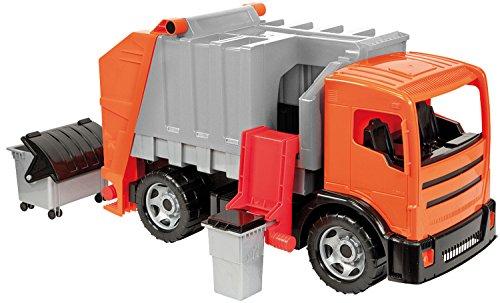 Riesen-lkw (Lena 02167 - Starke Riesen Müllwagen, orange - silber, ca. 72 cm)