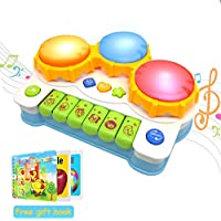 ACTRINIC Baby Musical Toys 12-18months Drums Piano Musical Instrument,Learning and Development Early Educational Game With Light /Music Gift toys for 1 2 3 year old Girls / Boys /Toddlers