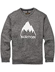 Burton OAK Crew, Felpa Uomo, True Black Heather, M