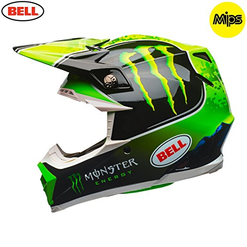Casco Mx Bell Monster Energy 2018 Tomac - Moto-9 Mips Nero-Verde (L , Nero)