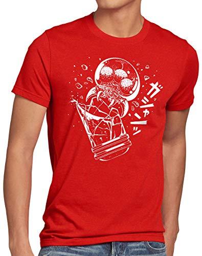 A.N.T. Outburst Herren T-Shirt Samus Aran Metroid SNES Switch, Größe:S, Farbe:Rot