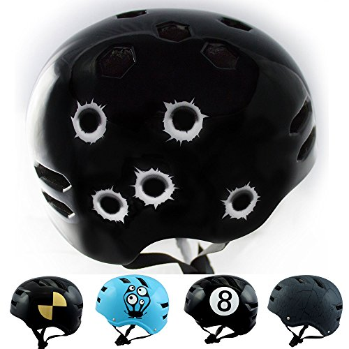 Bike-Helm-Bullet-Hole-Gre-L