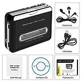 Portable Cassette Player, FORITO Retro Cassette Tape Converter to MP3 via USB Compatible