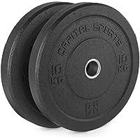 Capital Sports Renit Hi Temp Bumper Plates discos de pesas 10 kg (centro de aluminio