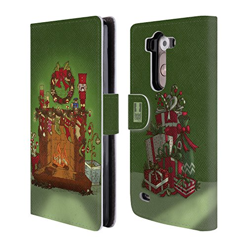 Head Case Designs Camino Christmas Essentials Cover telefono a portafoglio in pelle per LG G3 S / G3 Beat / G3 Vigor