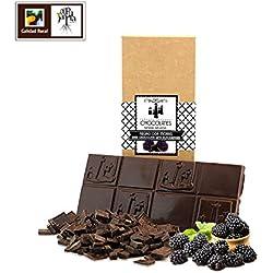 Chocolate negro artesano con moras