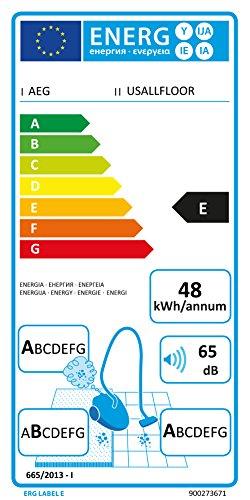 AEG UltraSilencer USALLFLOOR Staubsauger mit Beutel EEK E / 1400 Watt / Beste Reinigungsklasse auf Hartböden / 2 Düsen / inkl. Zubehör - 2