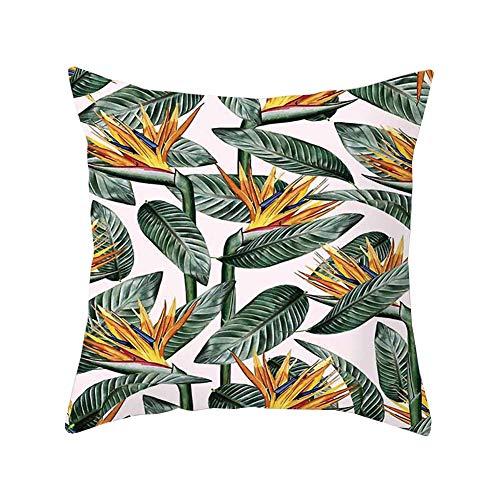 Tropical Beach Kissenbezug Rainforest Palm Banana Leaf Pattern, Sackleinen Leinen Kissenbezüge Kissenbezüge für Zuhause Sofa (Grün, 1) ()