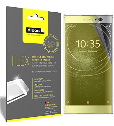 dipos I 3X Schutzfolie 100prozent passend für Sony Xperia XA2 Folie (Vollständige Bildschirmabdeckung) Bildschirmschutzfolie
