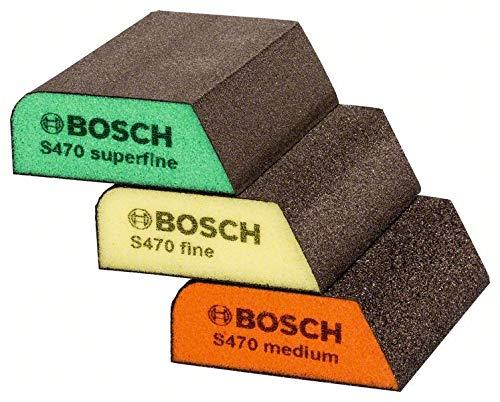 Bosch 2608621252Schleifmittel Schwamm Set–Blau (3-teilig)