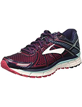 Brooks Damen Adrenaline GTS 17 Gymnastikschuhe, Silver/Purplecactusflower/Blue