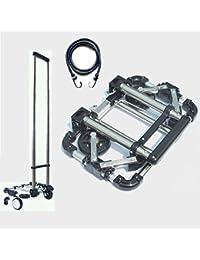 pEI Gepäckwagen Leicht Klappbar Leichtgewichtiger Transportkarre Für Reisen/Geschäftsreise/Schwerlasttransport 25 Kg/55 lbs Kapazität