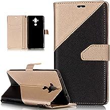 Huawei Mate 8Funda, Huawei Mate 8Funda, ikasus Hit Color colisión piel sintética plegable tipo cartera, funda de piel tipo cartera con función atril para tarjetas de crédito ID soportes carcasa para Huawei Mate 9