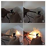 TOMOUNT Outdoor Magnesium Feuerstarter Anzünder Zündstahl Feuerstahl mit Eisenkratzer -