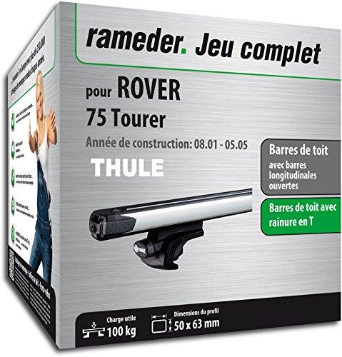 Rameder Pack Barres de Toit SlideBar pour Rover 75 Tourer (114977-04772-215-FR)
