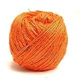 #3: Klera Colored 75 Meter Jute Twine - 2mm Diameter - Eco-Friendly Natural Jute String Rope (Orange)