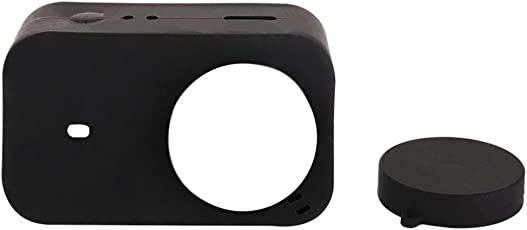 MagiDeal Silicone Housing Case+Lens Cap Cover For Xiaomi Mijia Mini 4K Action Camera