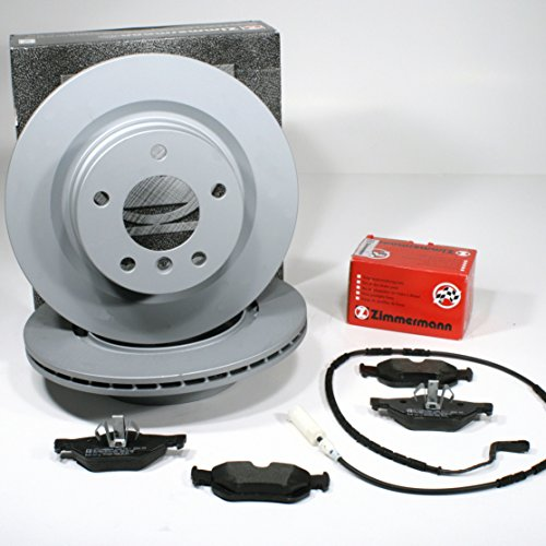 Zimmermann Bremsscheiben 300 mm belüftet Bremsen + Bremsbeläge Warnkabel für hinten/die Hinterachse