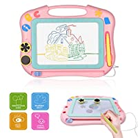 PUZ Toy Boys Girls Toddler Magnetic Drawing Board Children Erasable Doodle Sketching Writing Board With Magic Slider Drawing Pad Kids Travel Games Educational Learning