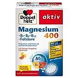 Doppelherz Magnesium 400 Brausetabletten + B1 + B6 + B12 + Folsäure/Magnesium zur Unterstützung der normalen Muskelfunktion /